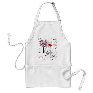 Love design adult apron