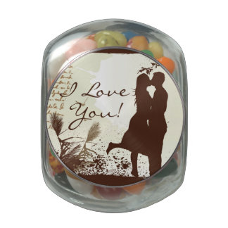 Love Design Glass Candy Jar