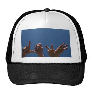 Love Design in Hand Signals Hats