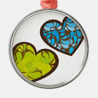 love design metal ornament