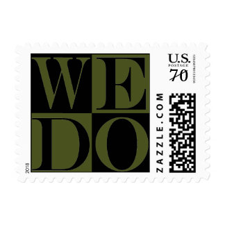 Love Design More Weight Weddings  Camo Green Postage