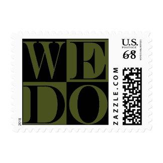 Love Design More Weight Weddings  Camo Green Stamp