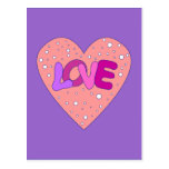 Love Design with Heart Post Cards