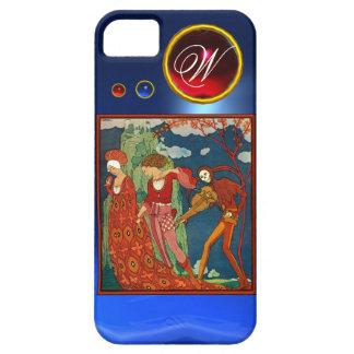 LOVE ,DESIRE AND DEATH RED GEM STONE MONOGRAM iPhone SE/5/5s CASE