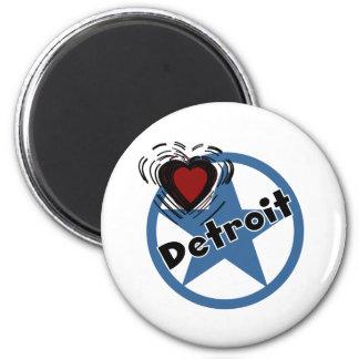 Love Detroit 2 Inch Round Magnet