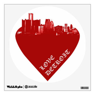 Love Detroit Wall Decal