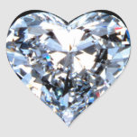 LOVE DiAMOND Heart Sticker