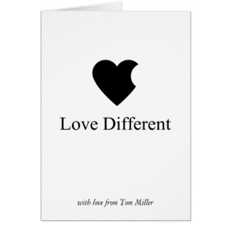 Love Different Card