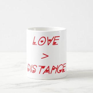 LOVE>DISTANCE COFFEE MUG