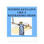 love divorce joke postcard