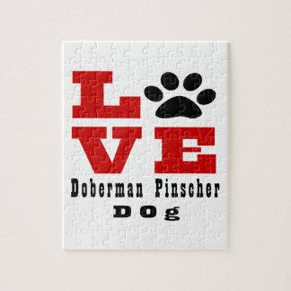 Love Doberman Pinscher Dog Designes Jigsaw Puzzle