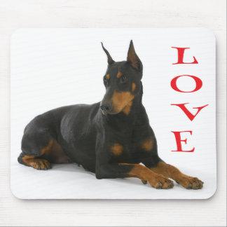 Love Doberman Pinscher Puppy Dog Mousepad