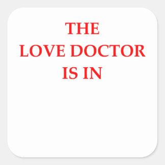 LOVE DOCTOR SQUARE STICKER