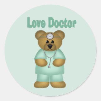 love doctor classic round sticker