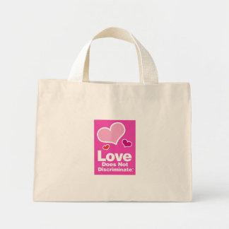 Love Does Not Discriminate Striped Tote Mini Tote Bag