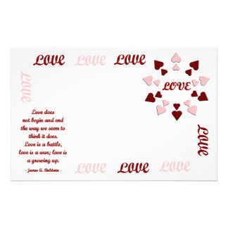 Love Does... Stationary Personalized Stationery