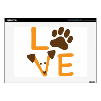 "LOVE DOG 15"" LAPTOP SKINS"