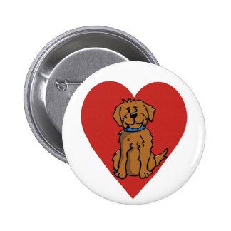 Love Dog 2 Inch Round Button