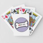 love dog bone bicycle poker cards