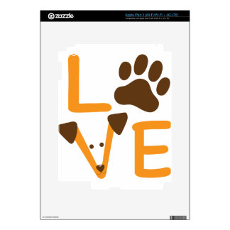 LOVE DOG DECALS FOR iPad 3