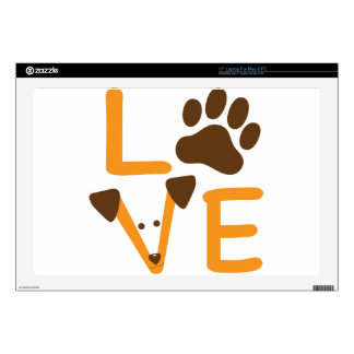 LOVE DOG DECALS FOR LAPTOPS