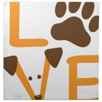 LOVE DOG NAPKIN