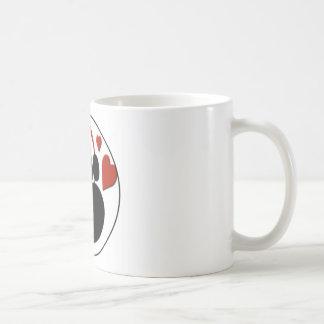 love dog paw coffee mug