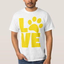 Love Dog Paw Funny T Shirt