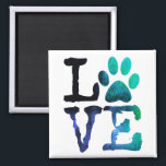 "Love, Dog Paw Print Magnet<br><div class=""desc"">Love,  Dog Paw Print Magnet</div>"
