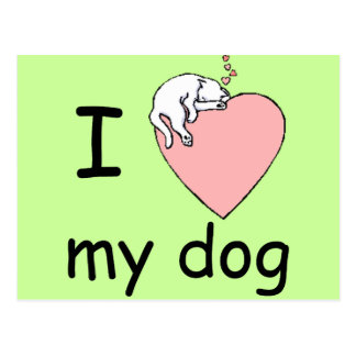 love_dog postcard