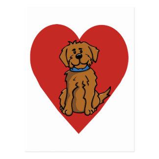Love Dog Postcard