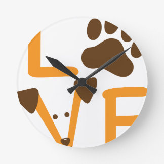 LOVE DOG ROUND CLOCK