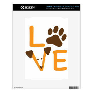 LOVE DOG DECALS FOR NOOK
