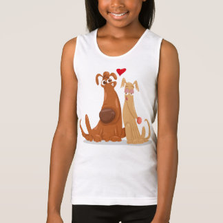 Love Dog Tank Top for Girl