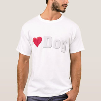 Love Dog White T-Shirt