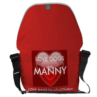 LOVE DOGS  MANNY - Love Bag by eZaZZleMan.com