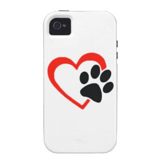 Love Dogs Paw and Heart iPhone 4/4S Cover