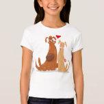 Love Dogs Shirt for Girl Playera