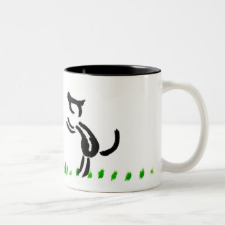 love dogs Two-Tone coffee mug