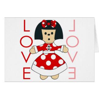 Love Doll Greeting Card