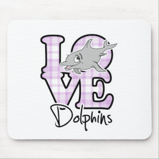 Love Dolphins Mouse Pad