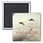 Love Dolphins save the date wedding favor Fridge Magnet