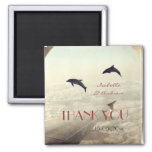Love Dolphins thank you wedding favor Refrigerator Magnet