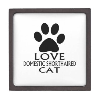 LOVE DOMESTIC SHORTHAIRED CAT DESIGNS GIFT BOX