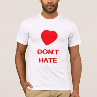 LOVE DON'T HATE Men's American Apparel T-Shirt