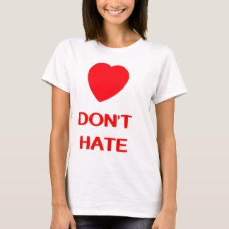 LOVE DON'T HATE Women's Basic T-Shirt