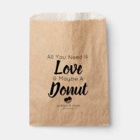 Love Donut Treat Wedding Favor Bag