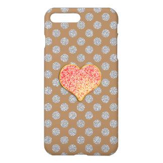 LOVE DOTS -Custom Your Color- iPhone 7 Plus Glossy iPhone 8 Plus/7 Plus Case
