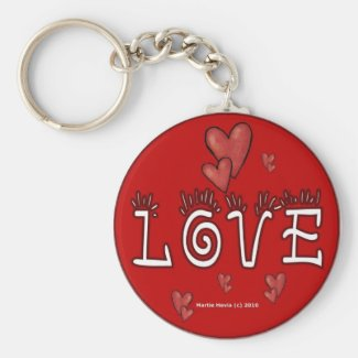 Love (Double-Sided/Personalize) Keychain