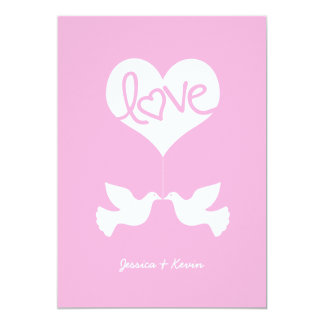 Love Doves (cotton candy pink) Card